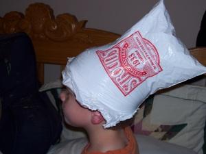 Stroud's hat, side view
